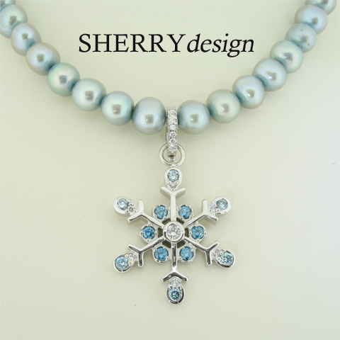 Blue Diamond Snowflake_