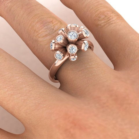 Rose gold and diamond exclusive ring design