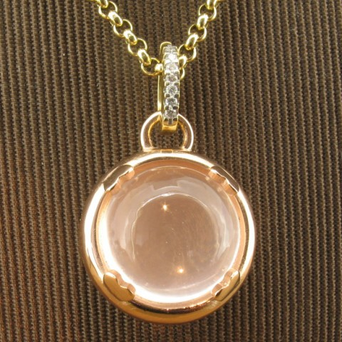 Rose gold Gemble, spherical pendant