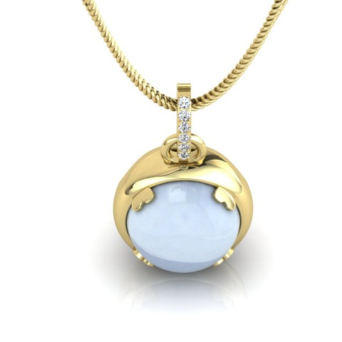 Yellow gold Gemble pendant