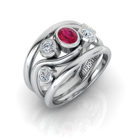 Ring remodel using ruby and diamonds