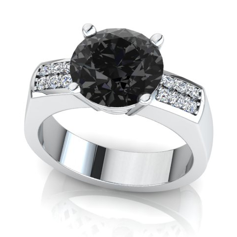 Black diamond gents ring