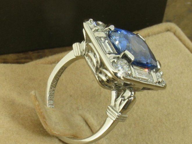 Art Deco platinum ring